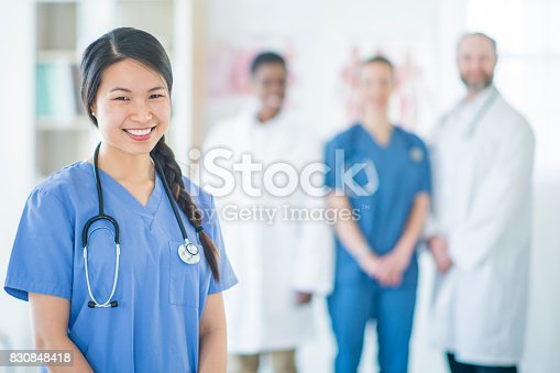 826880918 istock photo Standing in Her Office 830848418