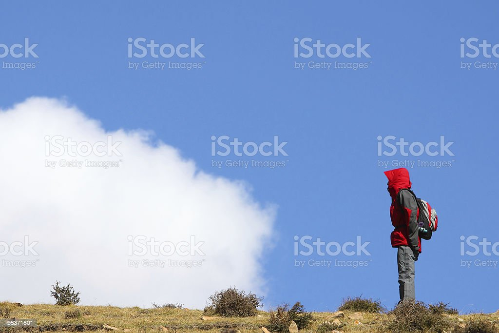 standing in the air royalty-free stock photo