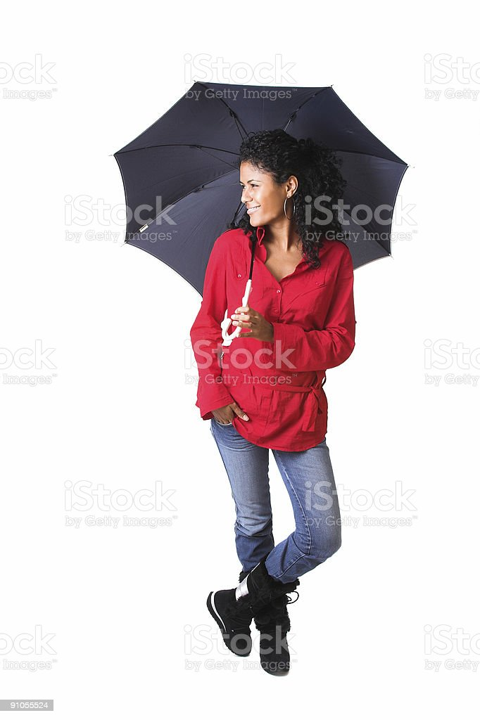 Standing in the rain royalty-free stock photo