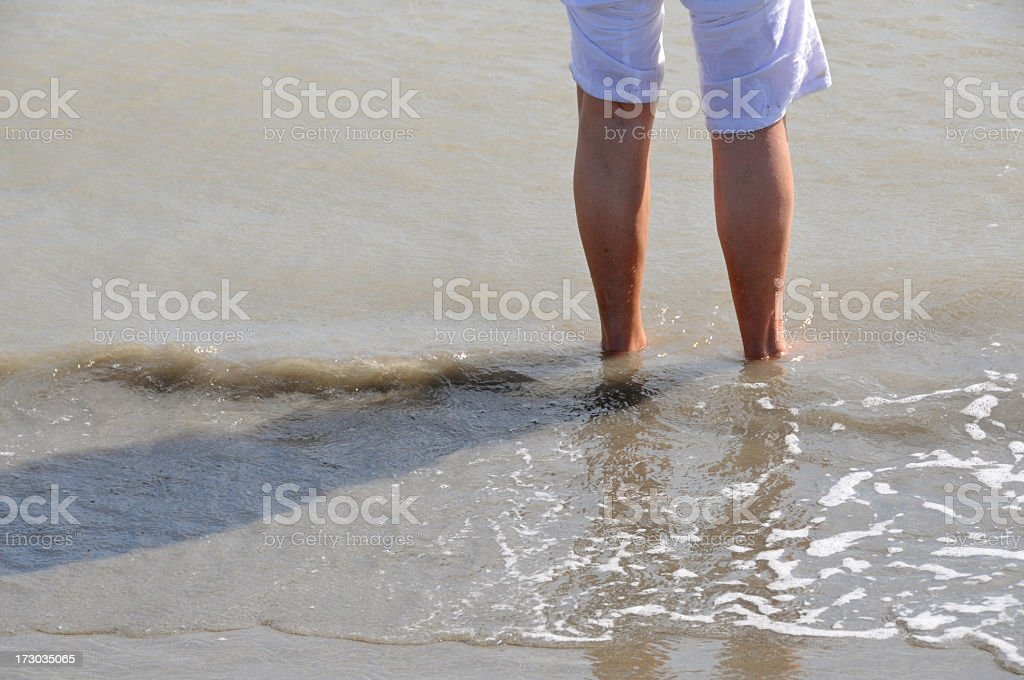 Standing in the sea royalty-free stock photo