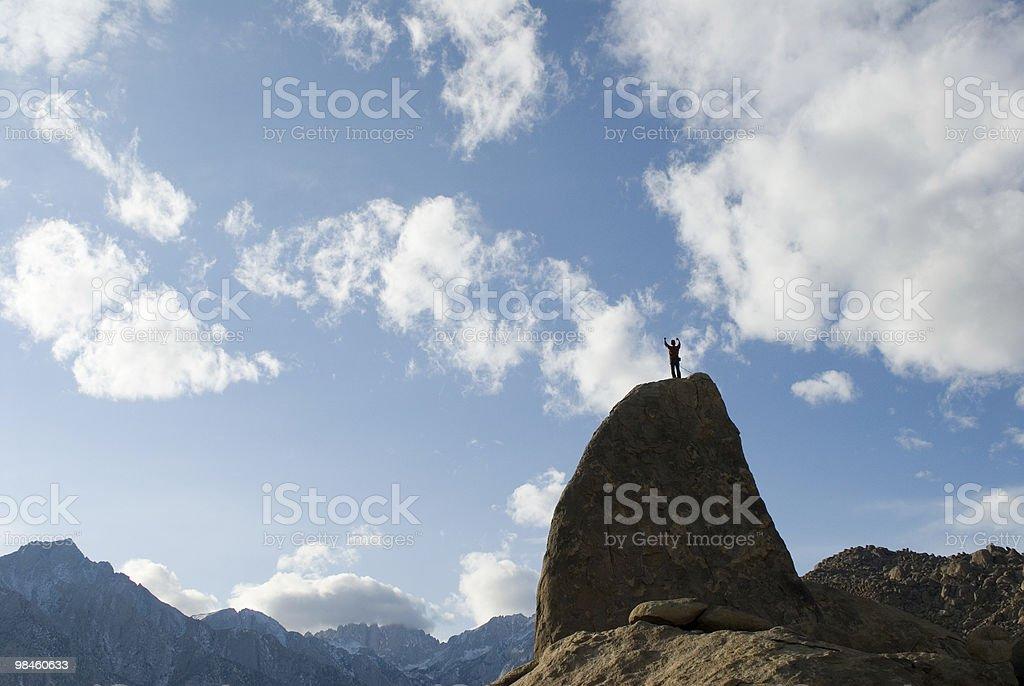 in piedi in the sky foto stock royalty-free