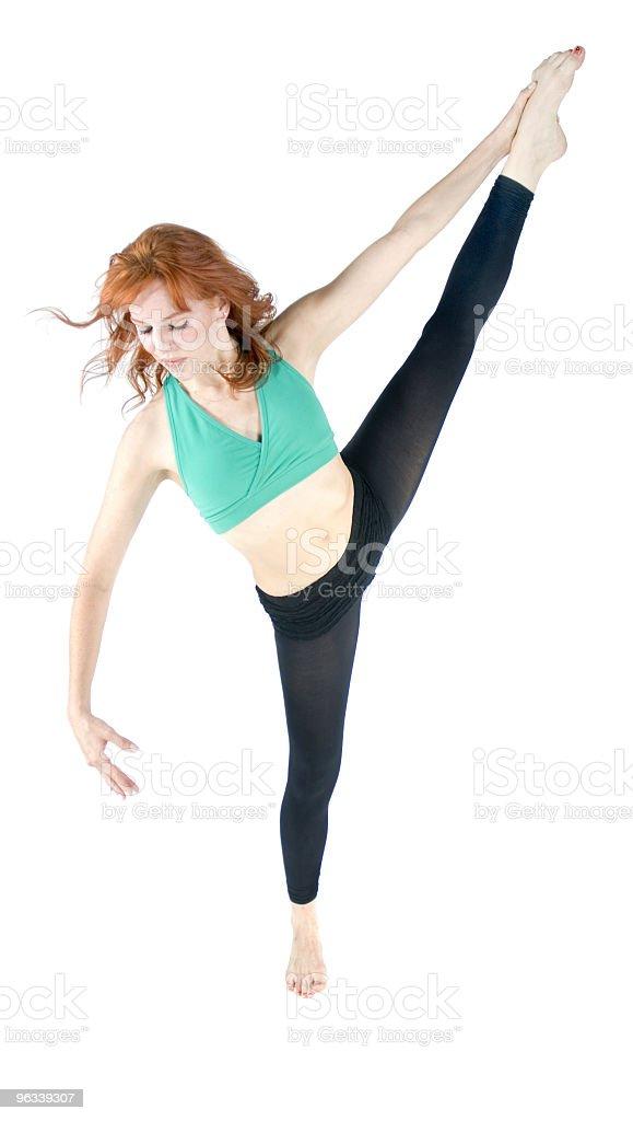 Standing Leg Stretch royalty-free stock photo
