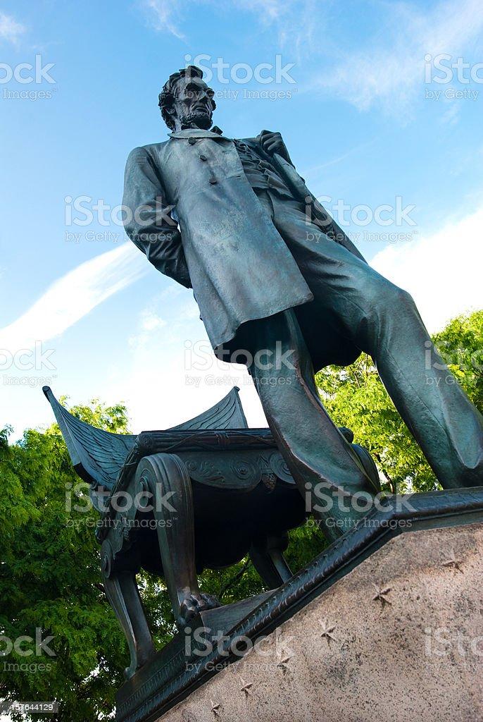 'Standing Lincoln' statue in Chicago, IL stock photo