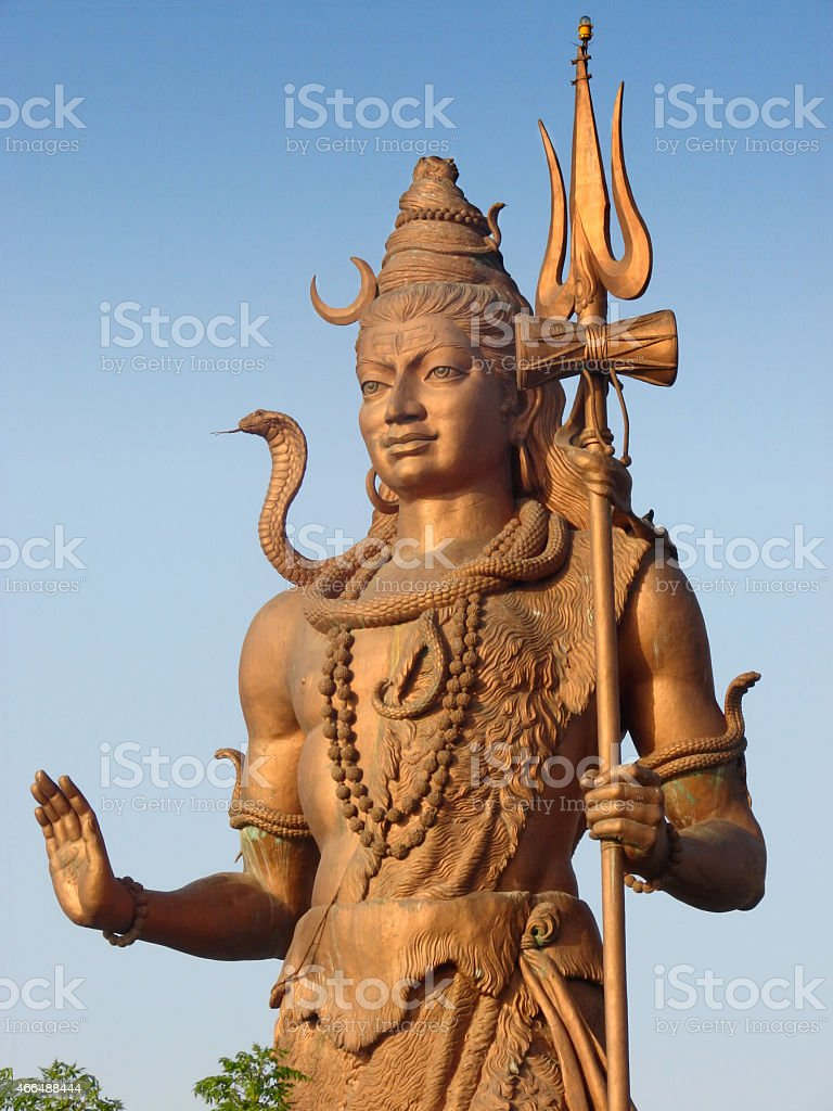 Standing Lord Shiva Statue from Haridwar India stock photo