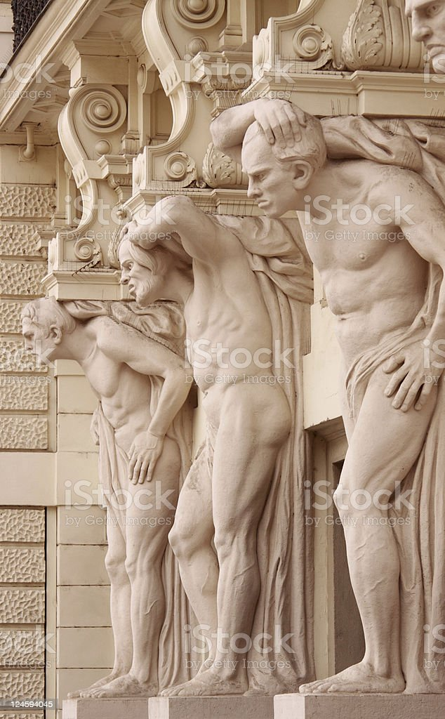 Standing men stock photo