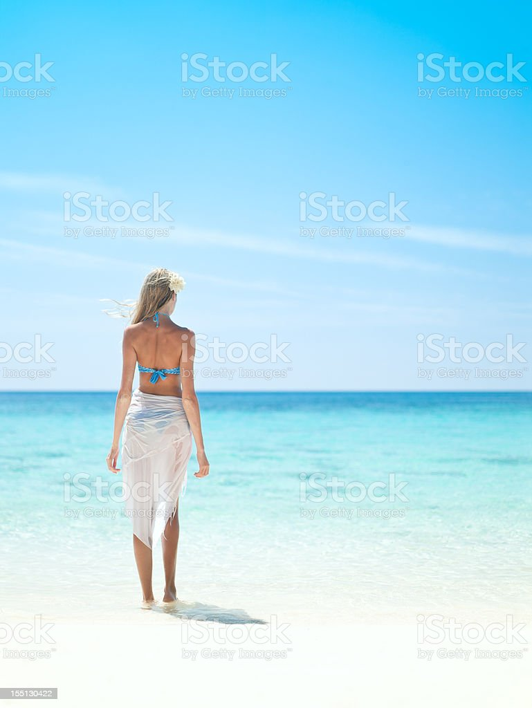 Standing near the ocean royalty-free stock photo