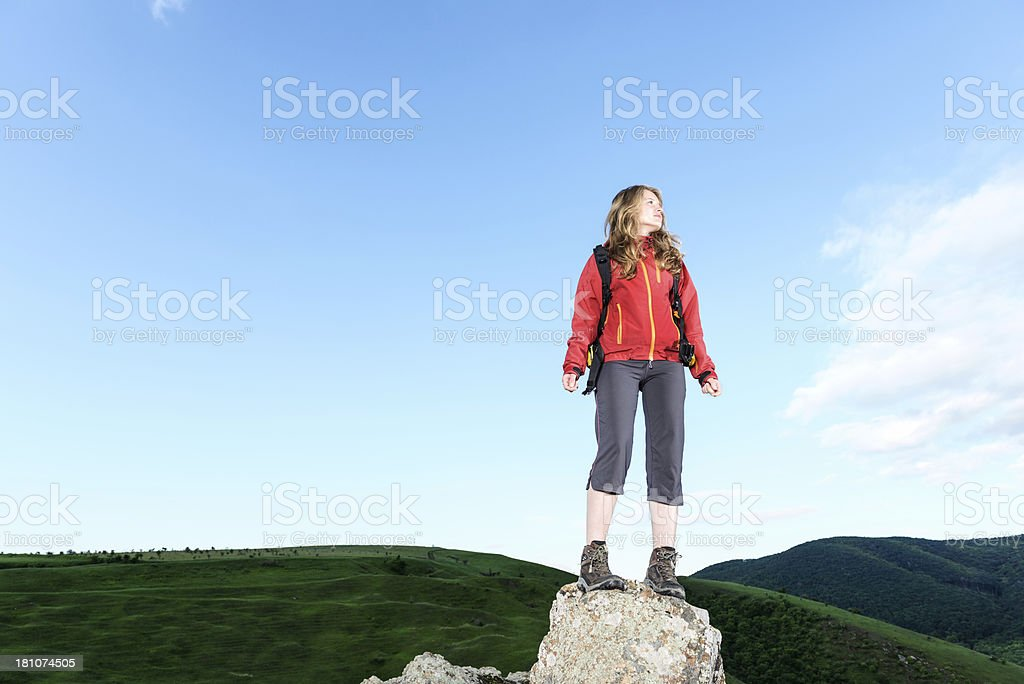 Standing on a Cliff royalty-free stock photo