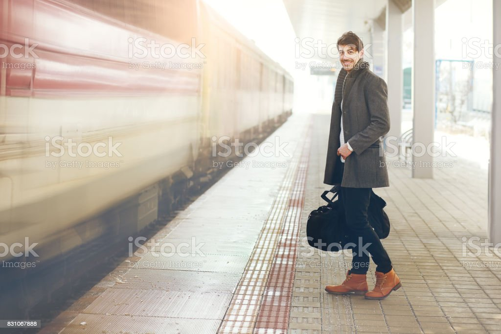 am Bahnsteig – Foto