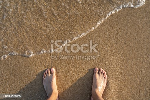 Standing on the beach