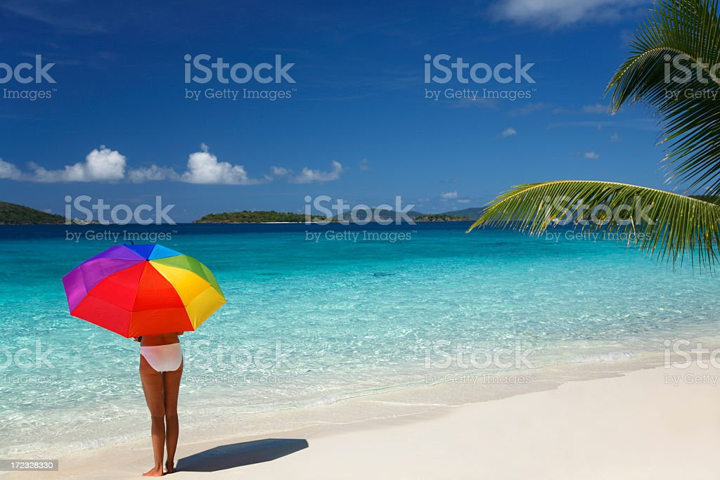 standing on the shoreline royalty-free stock photo