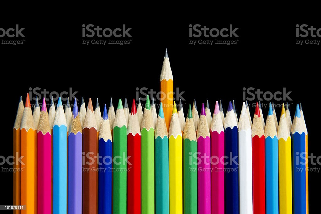 Standing Out Creativity royalty-free stock photo