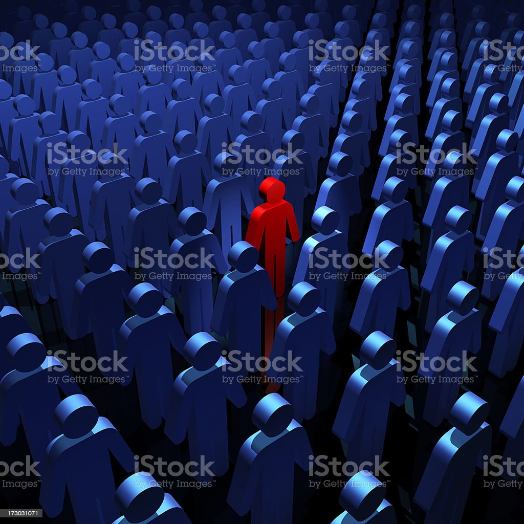 Standing out from crowd royalty-free stock photo