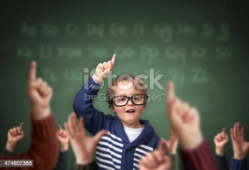 istock Standing out from the crowd at school 474602385