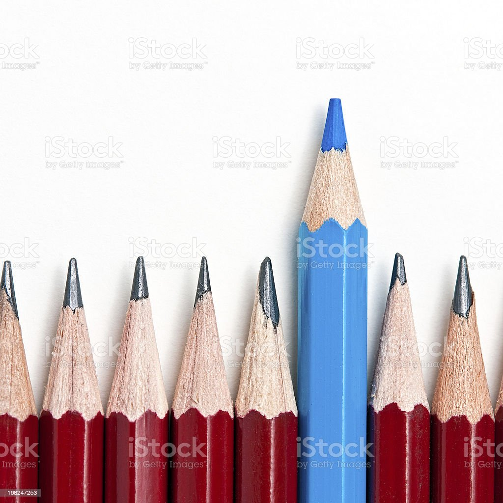 Standing out from the crowd concept stock photo