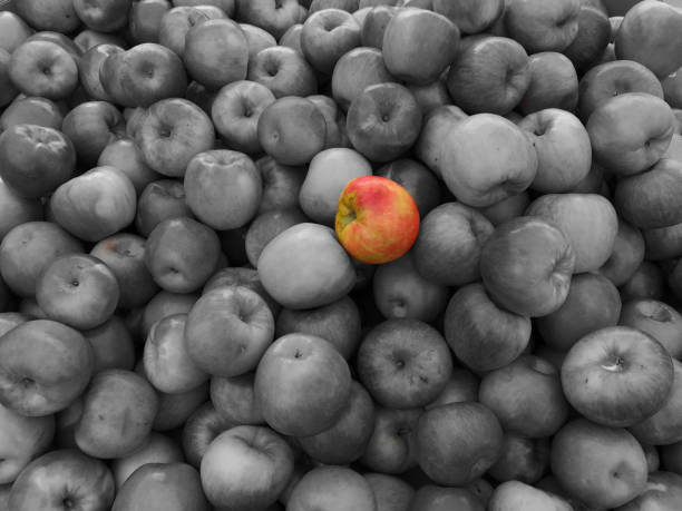 Standing out from the crowd - foto stock