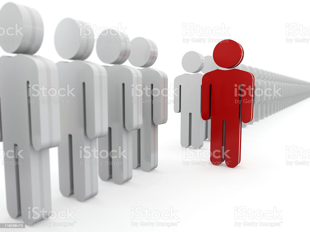 Standing out from the crowd. royalty-free stock photo