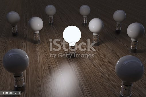 Standing Out From The Crowd Concept, Leadership Concept, Idea Concept. ( 3d render )