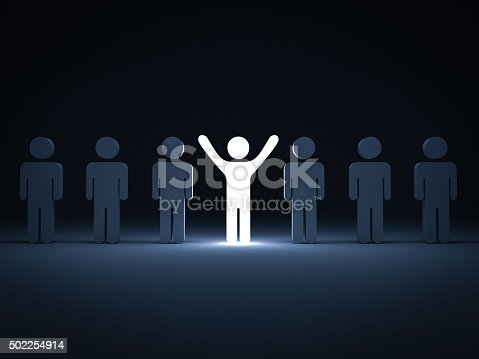 istock Standing out from the crowd 502254914