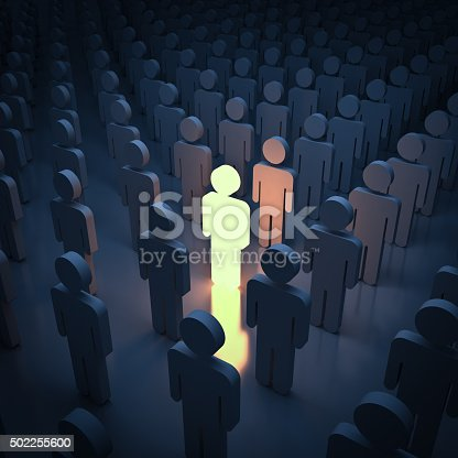 istock Standing out from the crowd 502255600