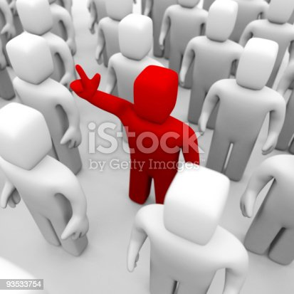 istock Standing out from the crowd 93533754