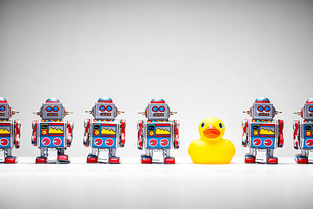 Sortir du lot-Tin Robot canard en caoutchouc - Photo