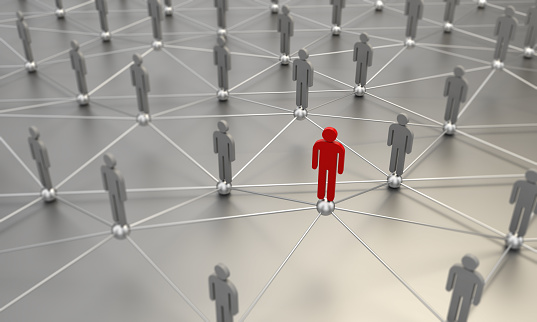 688372024 istock photo Standing Out From The Crowd With 3d People - Social Networking 1053887470