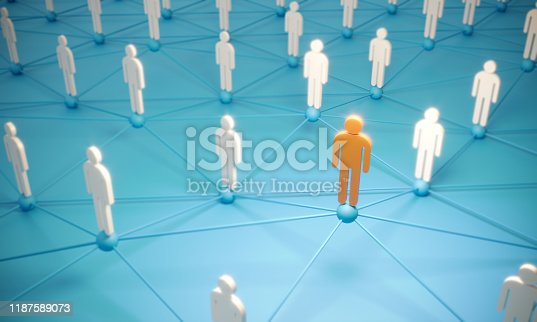 688372024istockphoto Standing Out From The Crowd With 3d People - Social Networking 1187589073