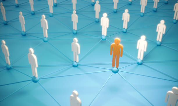 Standing Out From The Crowd With 3d People - Social Networking stock photo