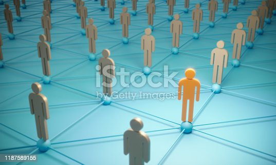 688372024istockphoto Standing Out From The Crowd With 3d People - Social Networking 1187589155