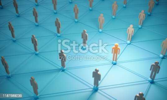 688372024istockphoto Standing Out From The Crowd With 3d People - Social Networking 1187589235