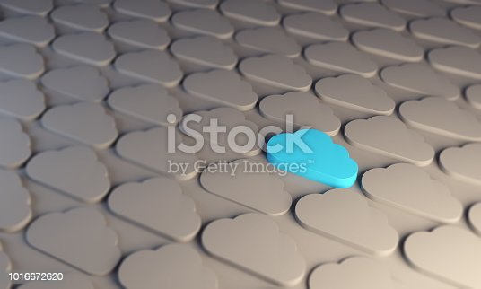 istock Standing Out From The Crowd With Cloud Computing 1016672620