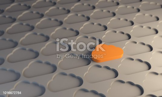 istock Standing Out From The Crowd With Cloud Computing 1016672754