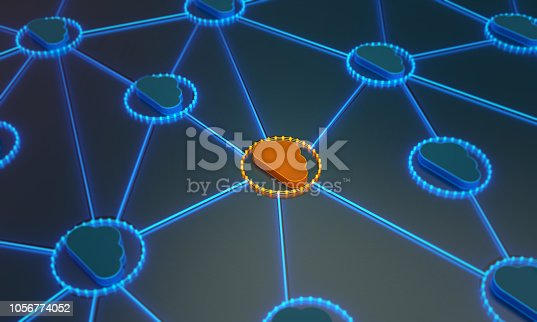 istock Standing Out From The Crowd With Cloud Computing 1056774052
