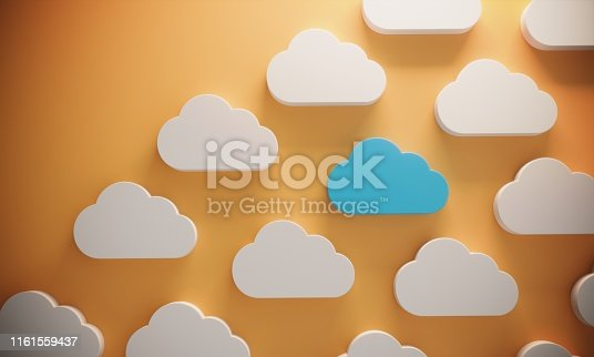 istock Standing Out From The Crowd With Cloud Computing 1161559437