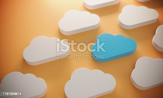 istock Standing Out From The Crowd With Cloud Computing 1161559614