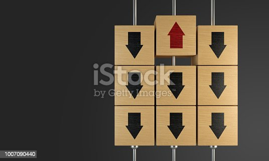 istock Standing Out From The Crowd With Wooden Cubes 1007090440