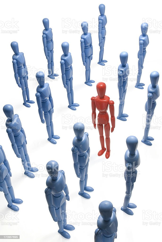 Standing out in the crowd royalty-free stock photo