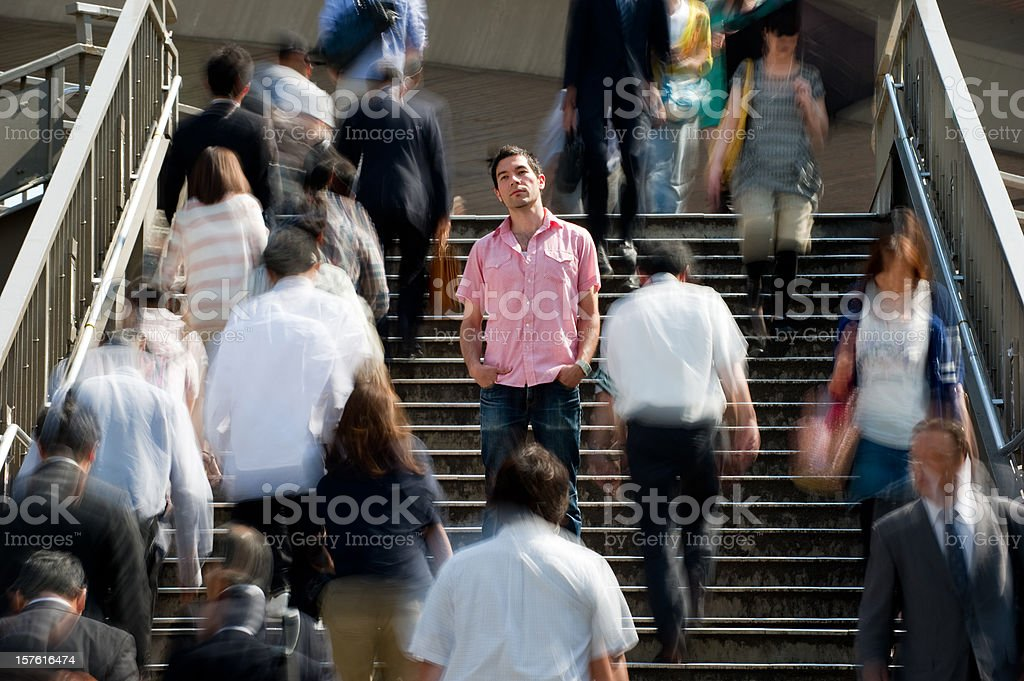 Standing out stock photo