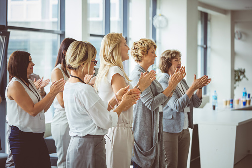 Standing Ovation To The Speaker Stock Photo - Download Image Now