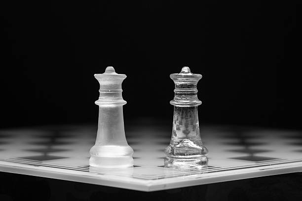 Standing pieces on a playing board abjure stock pictures, royalty-free photos & images