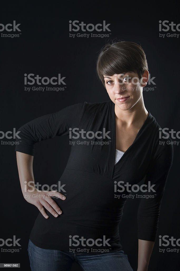 Standing Portrait royalty-free stock photo