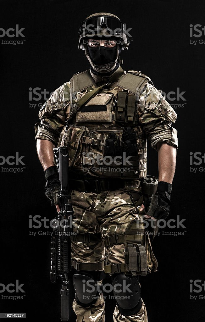 Standing soldier royalty-free stock photo