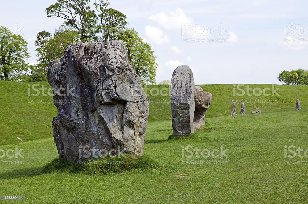 Standing stones at Avebury, England royalty-free stock photo