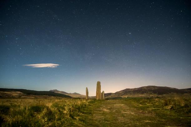 standing stones machrie moor stock photo