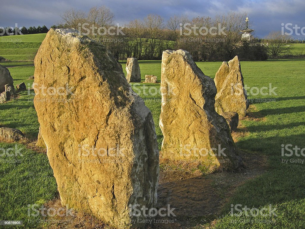 standing stones willen park peace pagoda royalty-free stock photo