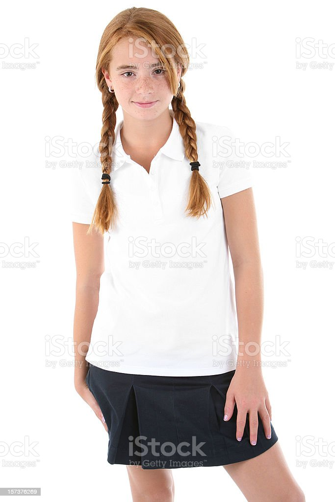 Standing student. royalty-free stock photo