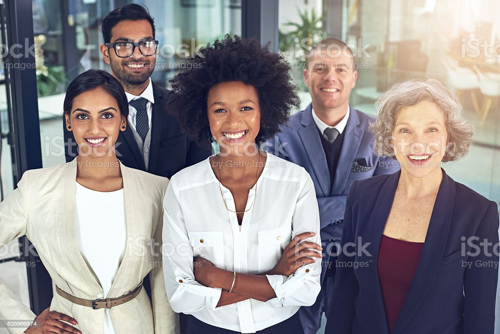 Standing tall at the top of their game stock photo