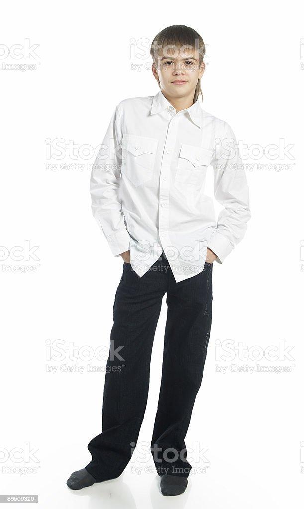 Standing teenage boy royalty-free stock photo