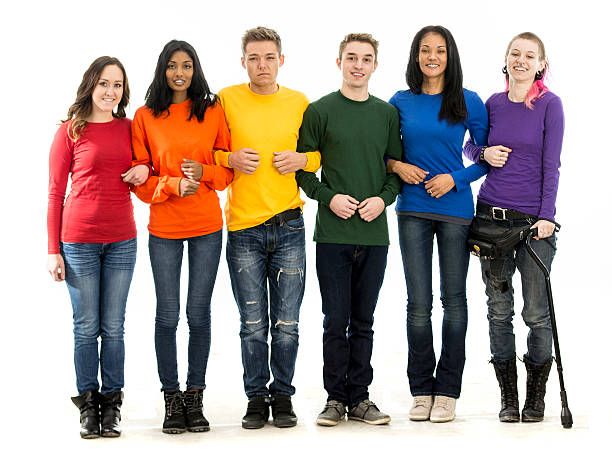 standing together for gay pride - transsexual stock photos and pictures