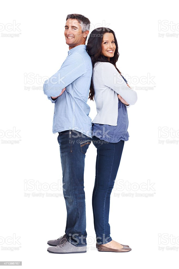 Standing together royalty-free stock photo